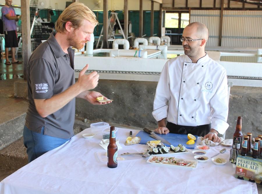 Tasting Pearl Meat at Cygnet Bay Pearl Farm