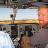 At the Controls - Kimberley Aerial Highway