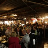 Fine dining in the shearing shed