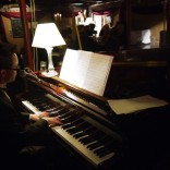 Tickling the ivories at the Cambinata Yabbies Extravaganza