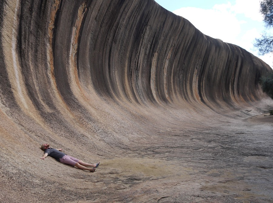 Wiped out at Wave Rock
