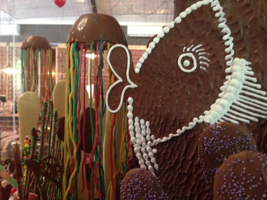 Chocolate fish tank at Whistlers Chocolate